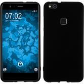 Silicone Case P10 Lite matt black + protective foils