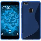 Silicone Case P10 Lite S-Style blue + protective foils