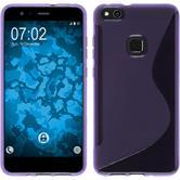 Silicone Case P10 Lite S-Style purple + protective foils
