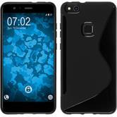 Silicone Case P10 Lite S-Style black + protective foils