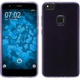 Silicone Case P10 Lite transparent purple + protective foils