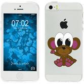 Apple iPhone 5 / 5s / SE Silikon-Hülle Cutiemals Motiv 3