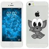 Apple iPhone 5 / 5s / SE Silikon-Hülle Cutiemals Motiv 5