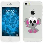 Apple iPhone 5 / 5s / SE Silikon-Hülle Cutiemals Motiv 6