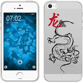PhoneNatic Apple iPhone 5 / 5s / SE Silicone Case Chinese Zodiac design 5 Case iPhone 5 / 5s / SE + protective foils