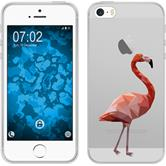 Apple iPhone 5 / 5s / SE Silikon-Hülle Vektor Tiere Motiv 2