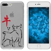 Apple iPhone 7 Plus Silikon-Hülle Tierkreis Chinesisch Motiv 2