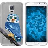 PhoneNatic Samsung Galaxy S5 Neo Silikon-Hülle Vektor Tiere Motiv 1 Case Galaxy S5 Neo Tasche + 2 Schutzfolien