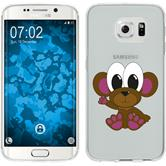 Samsung Galaxy S6 Edge Silikon-Hülle Cutiemals Motiv 3