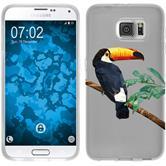 PhoneNatic Samsung Galaxy S6 Silicone Case vector animals design 5 Case Galaxy S6 + protective foils