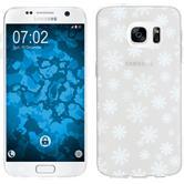 PhoneNatic Samsung Galaxy S7 Custodia in Silicone Natale X Mas Motif 2 Case Galaxy S7 + pellicola protettiva