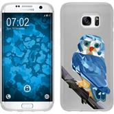 PhoneNatic Samsung Galaxy S7 Edge Silicone Case vector animals design 1 Case Galaxy S7 Edge + protective foils