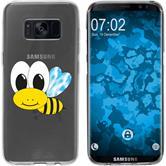 Samsung Galaxy S8 Silikon-Hülle Cutiemals Motiv 1