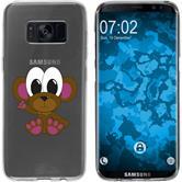 Samsung Galaxy S8 Silikon-Hülle Cutiemals Motiv 3