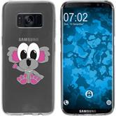 Samsung Galaxy S8 Silikon-Hülle Cutiemals Motiv 6