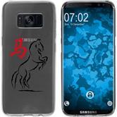 Samsung Galaxy S8 Silikon-Hülle Tierkreis Chinesisch Motiv 7