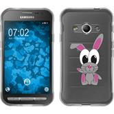 Samsung Galaxy Xcover 3 Silikon-Hülle Cutiemals Motiv 4