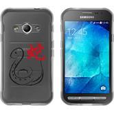 Samsung Galaxy Xcover 3 Silikon-Hülle Tierkreis Chinesisch Motiv 6