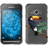 PhoneNatic Samsung Galaxy Xcover 3 Silicone Case vector animals design 5 Case Galaxy Xcover 3 + protective foils