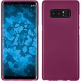 Silicone Case Galaxy Note 8 matt hot pink + Flexible protective film
