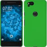 Hardcase Pixel 2 gummiert grün + 2 Schutzfolien