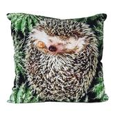 cosey cushion cover 45x45, cushion cover with motif for decorative cushion, sofa cushion - different motifs Polyester D16 Hedgehog