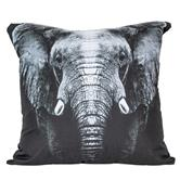cosey cushion cover 45x45, cushion cover with motif for decorative cushion, sofa cushion - different motifs Polyester D17 Elephant