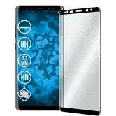 2 x Galaxy Note 8 Protection Film Tempered Glass clear full screen curved black