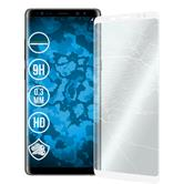 2 x Galaxy Note 8 Protection Film Tempered Glass clear full screen curved white