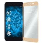 2 x Redmi Y1 Lite Protection Film Tempered Glass clear full screen gold