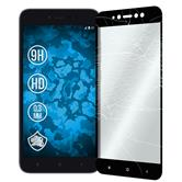 2 x Redmi Y1 Lite Protection Film Tempered Glass clear full screen black