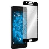 1 x Galaxy J7 (2018) Protection Film Tempered Glass clear full screen black