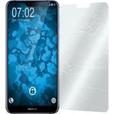 2x Nokia 6.1 Plus klar Glasfolie