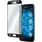 2x Galaxy S8 Plus klar full screen mit abgerundeten Ecken Glasfolie schwarz