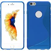 Silicone Case for Apple iPhone 6s Plus / 6 Plus S-Style blue