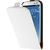 Artificial Leather Case for Samsung Galaxy S3 Flipcase white