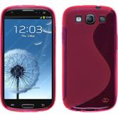 Silicone Case for Samsung Galaxy S3 Neo S-Style hot pink