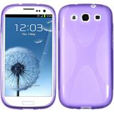 Silicone Case for Samsung Galaxy S3 X-Style purple