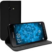 Kunst-Lederhülle Galaxy Xcover 4 Book-Case schwarz