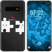 Samsung Galaxy S10 Plus Silicone Case in Love M1