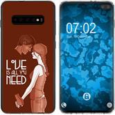 Samsung Galaxy S10 Plus Silikon-Hülle in Love  M3
