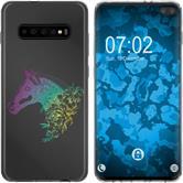 Samsung Galaxy S10 Plus Custodia in Silicone floral  M5-4