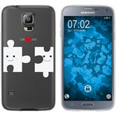 Samsung Galaxy S5 Neo Silicone Case in Love M1