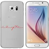 Samsung Galaxy S6 Funda de silicona in Love M2