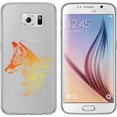 Samsung Galaxy S6 Coque en Silicone floralrenard M1-2
