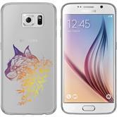 Samsung Galaxy S6 Silikon-Hülle Floral  M2-3