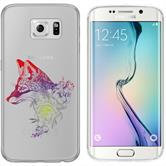 Samsung Galaxy S6 Edge Silicone Case floralFox M1-5