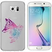Samsung Galaxy S6 Edge Silicone Case floralFox M1-6