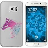 Samsung Galaxy S6 Edge Silicone Case floral M5-6