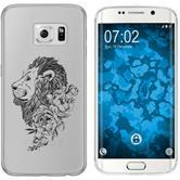 Samsung Galaxy S6 Edge Silicone Case floral M6-1